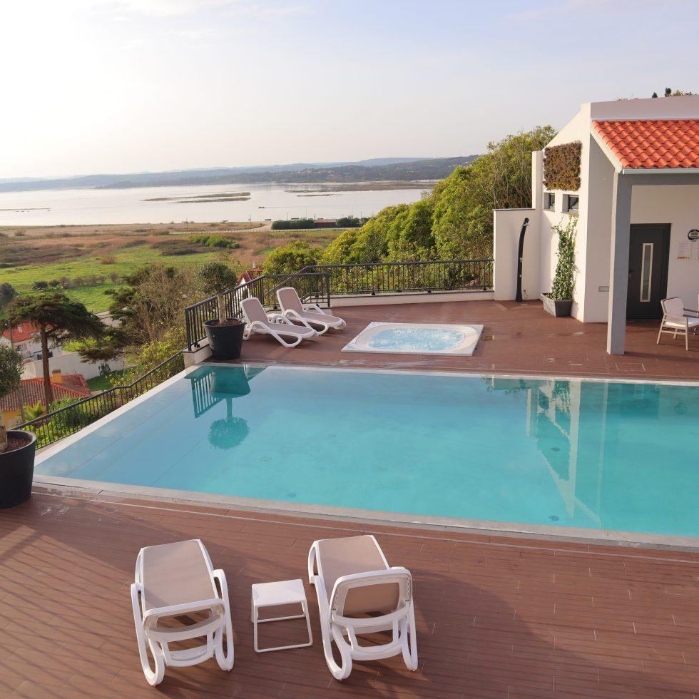 Vista piscina - lagoa Óbidos